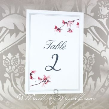 Blossom Table Number